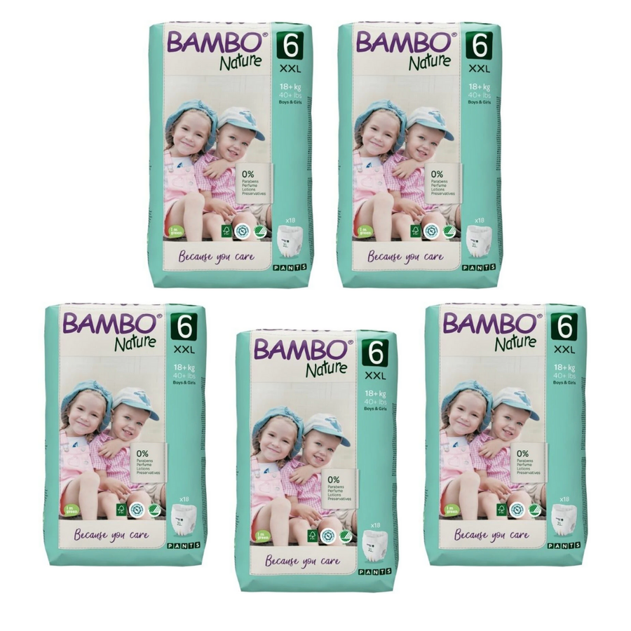 Bambo Nature Nappy Pants Size 5  - Bulk 5x18
