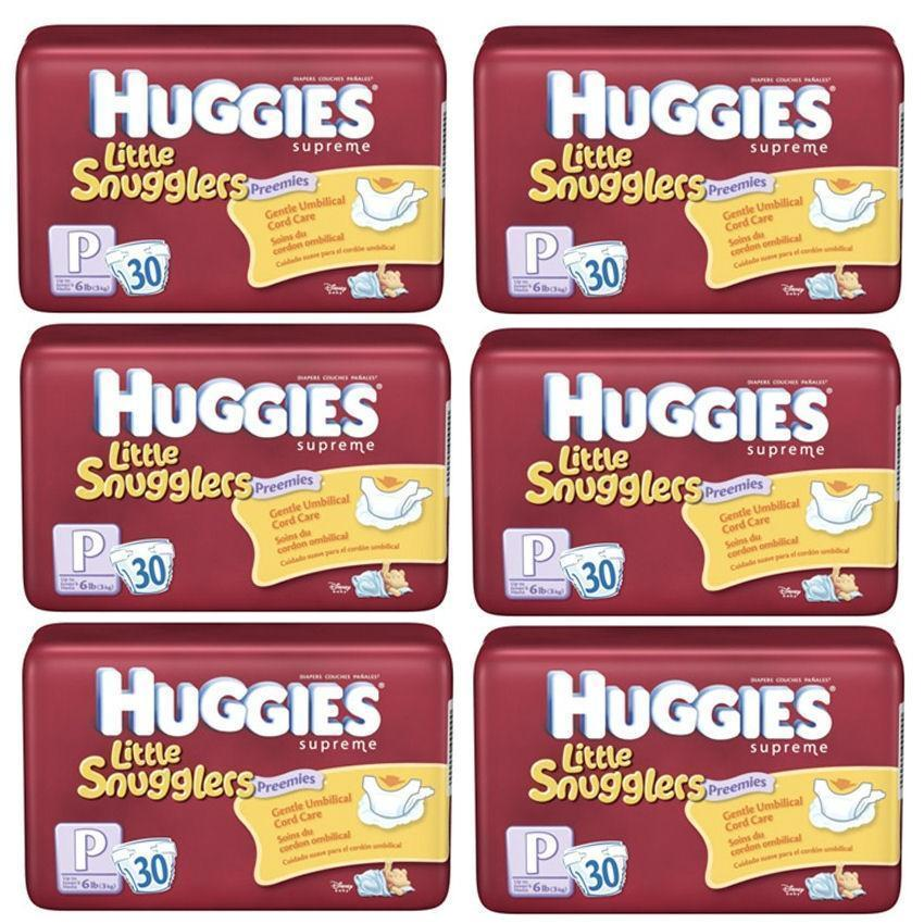 Huggies Premature Nappies up to 3kg BULK 6x30