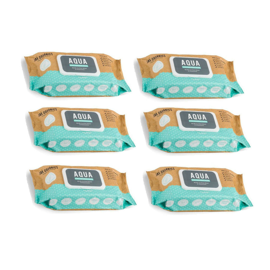 Jak Organics Aqua Baby Wipes BULK 6x80 - Supply Shortage ETA Mid Feb 2020