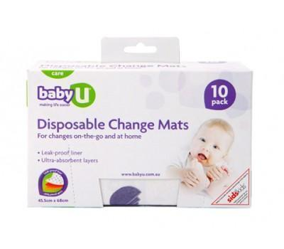 Baby U Disposable Change Mats 10