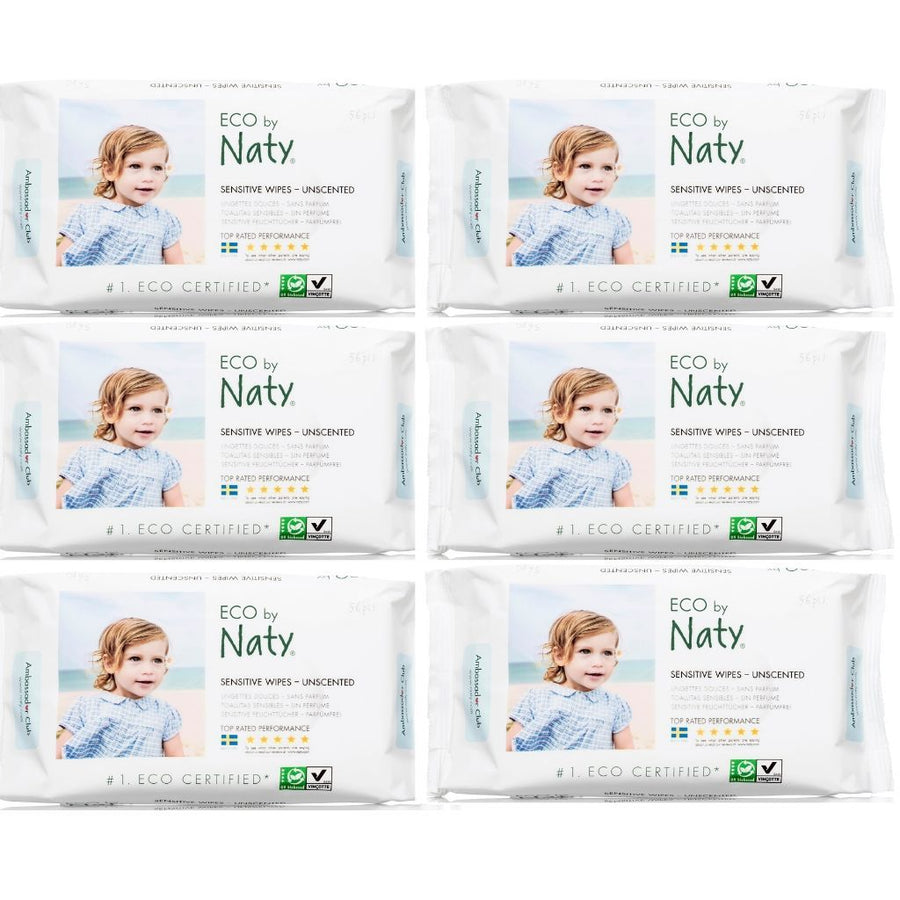ECO by Naty Baby Wipes Unscented Bulk Buy