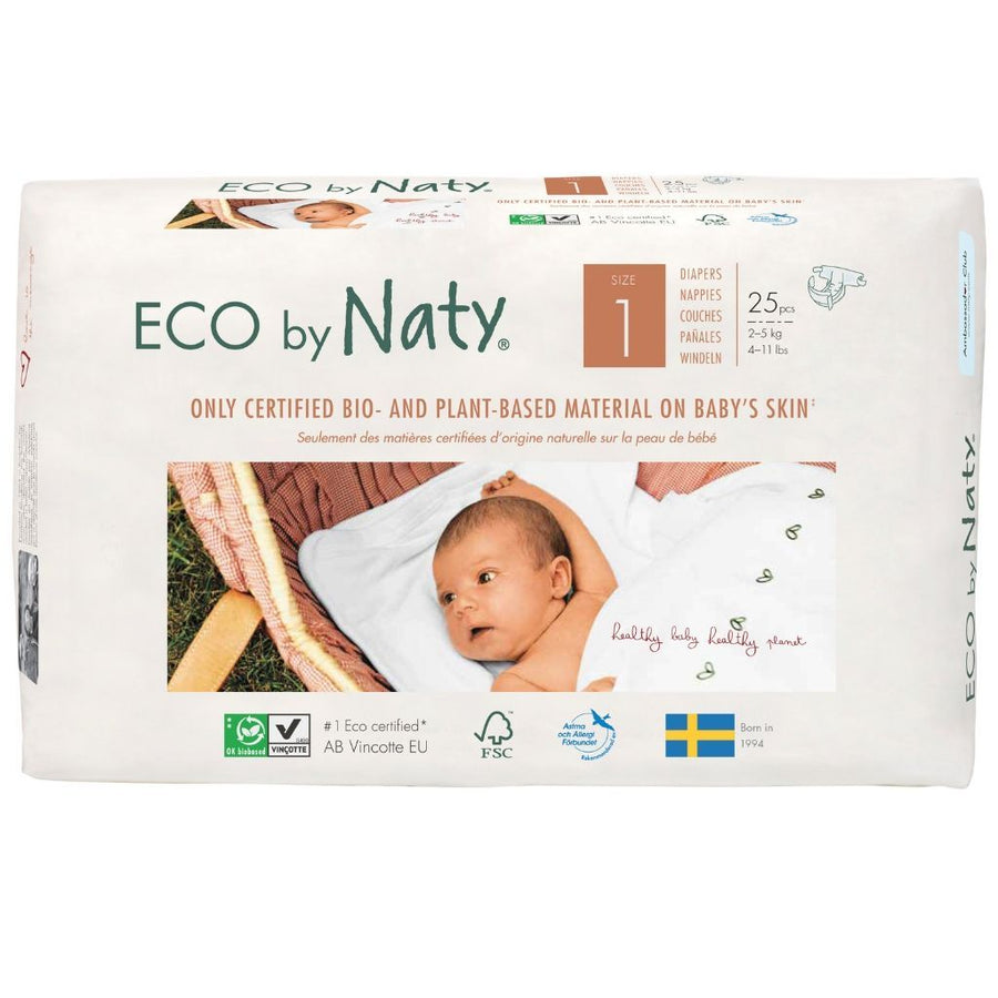 ECO by Naty Nappies Size 1 Newborn - 25 Pack
