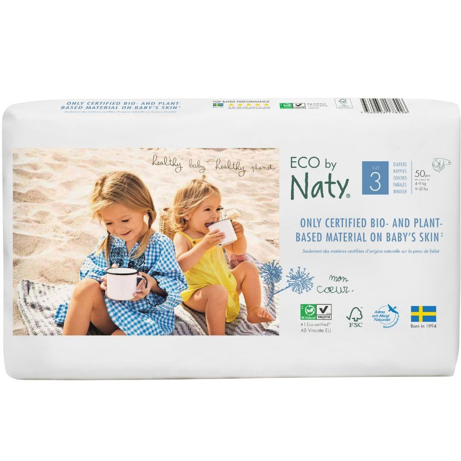 ECO by Naty Nappies Size 3 - 50 Pack