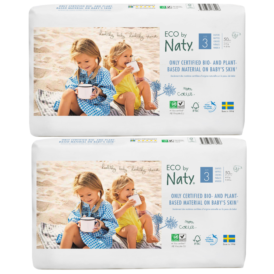 ECO by Naty Nappies Size 3 - BULK 2x50