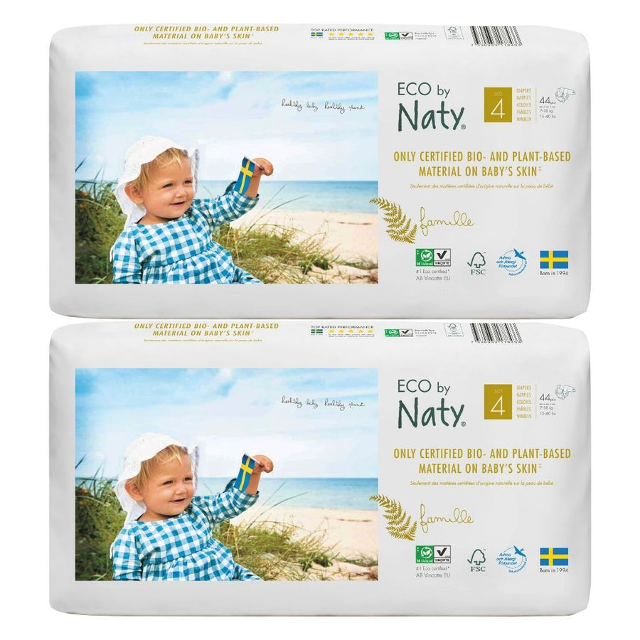 ECO by Naty Nappies Size 4 - BULK 2x44