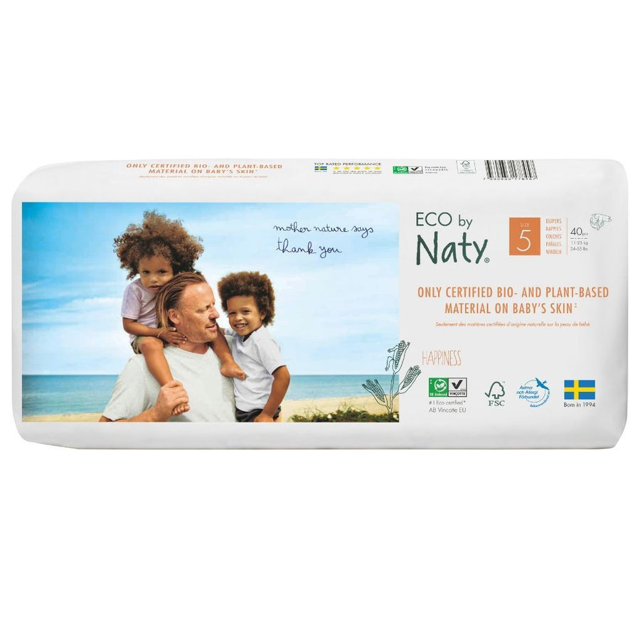 ECO by Naty Nappies Size 5 - 40 Pack