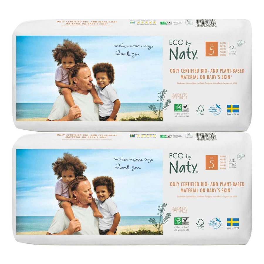 ECO by Naty Nappies Size 5 - BULK 2x40