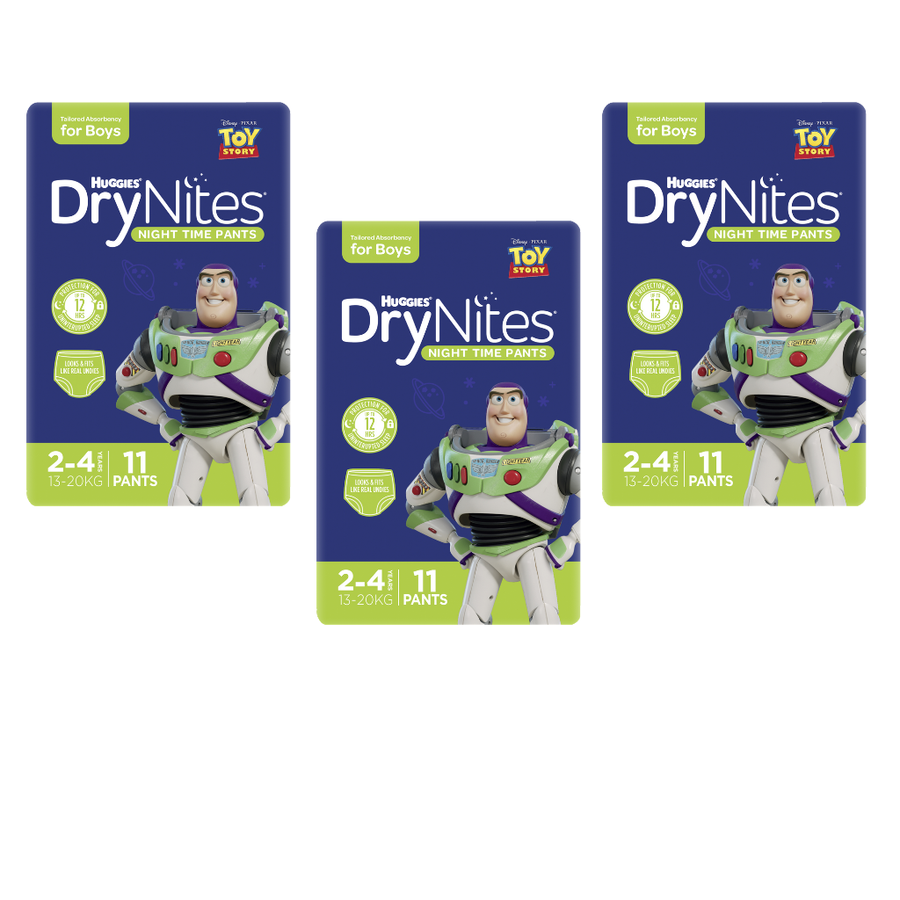Huggies DryNites 2-4 years for Boys - Bulk 3x11