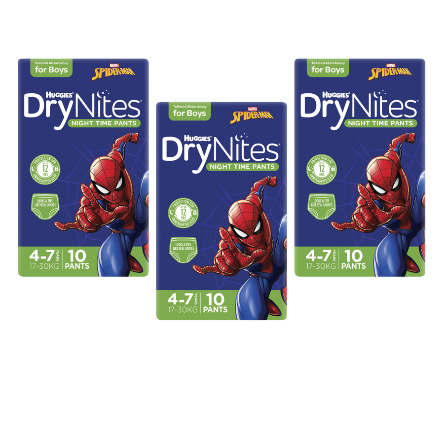 Huggies DryNites 4-7 years for Boys - Bulk 3x10