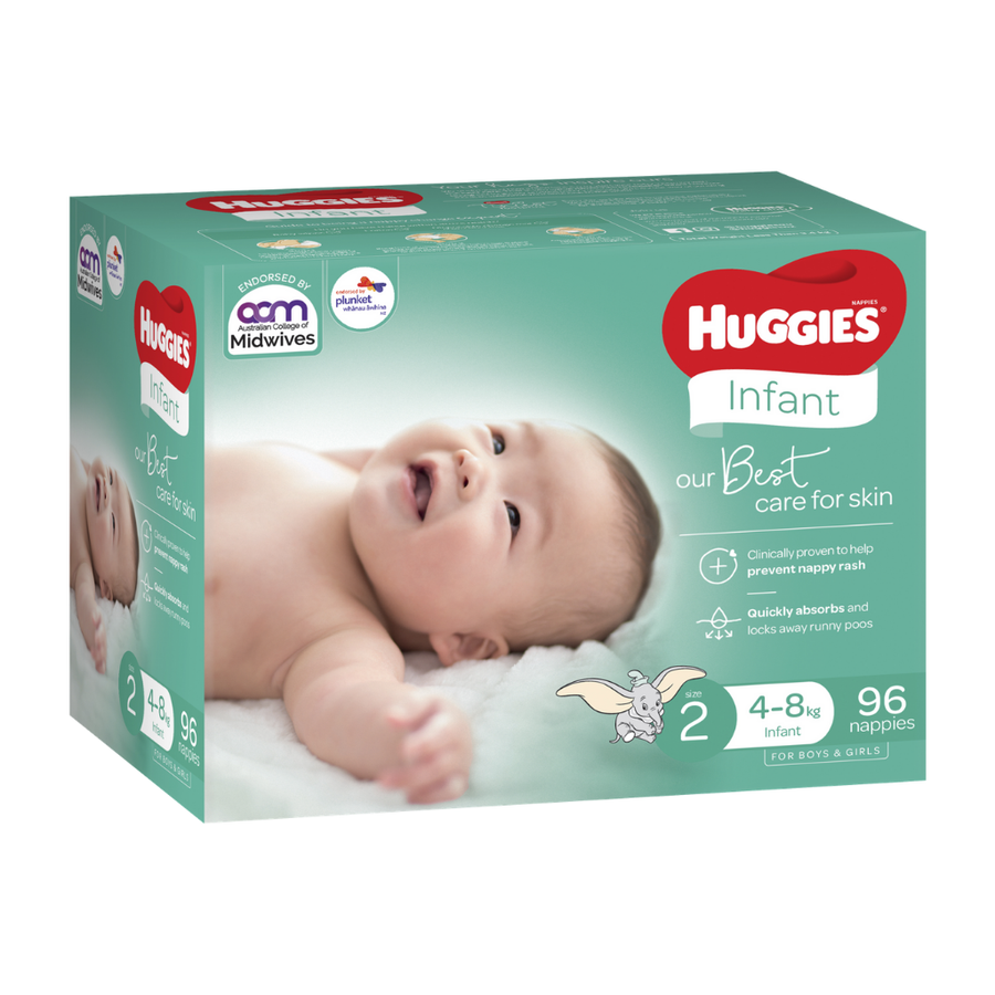 Huggies Ultimate Nappies Size 2 - 96 Pack