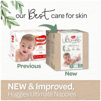 Huggies Ultimate Nappies Size 3 - 72 Pack