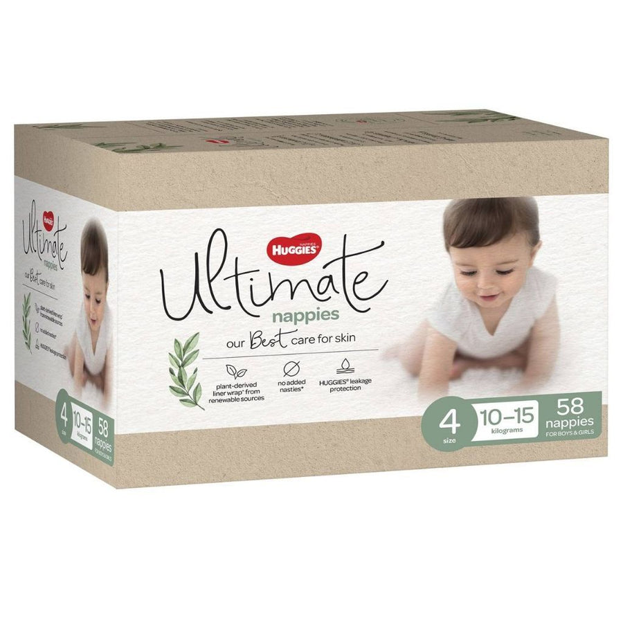 Huggies Ultimate Nappies Size 4 - 58 Pack