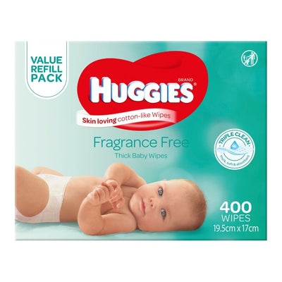 Huggies Fragrance Free Baby Wipes - 400 Pack