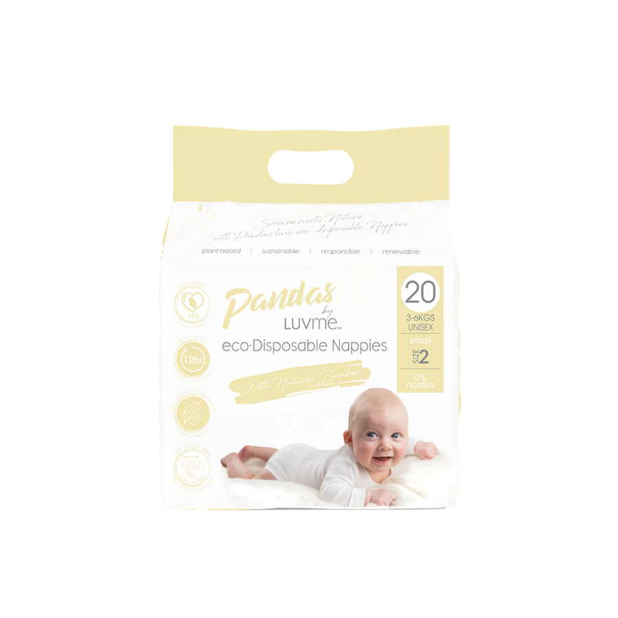 Pandas by Luvme Eco Nappies Size 2 - 20 Pack