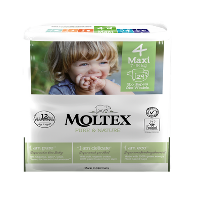 Moltex Eco Nappies Size 4 Maxi 7-18kg - 29 Pack