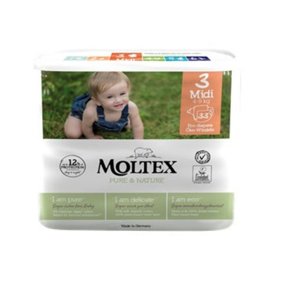 Moltex Nature Nappies Size 3 Midi 4-9kg - 33 Pack