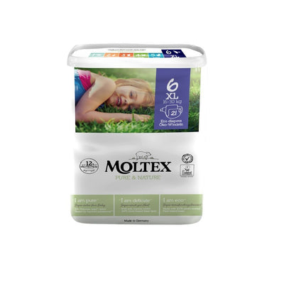 Moltex Eco Nappies Size 6 XL 16-30kg - 21 Pack