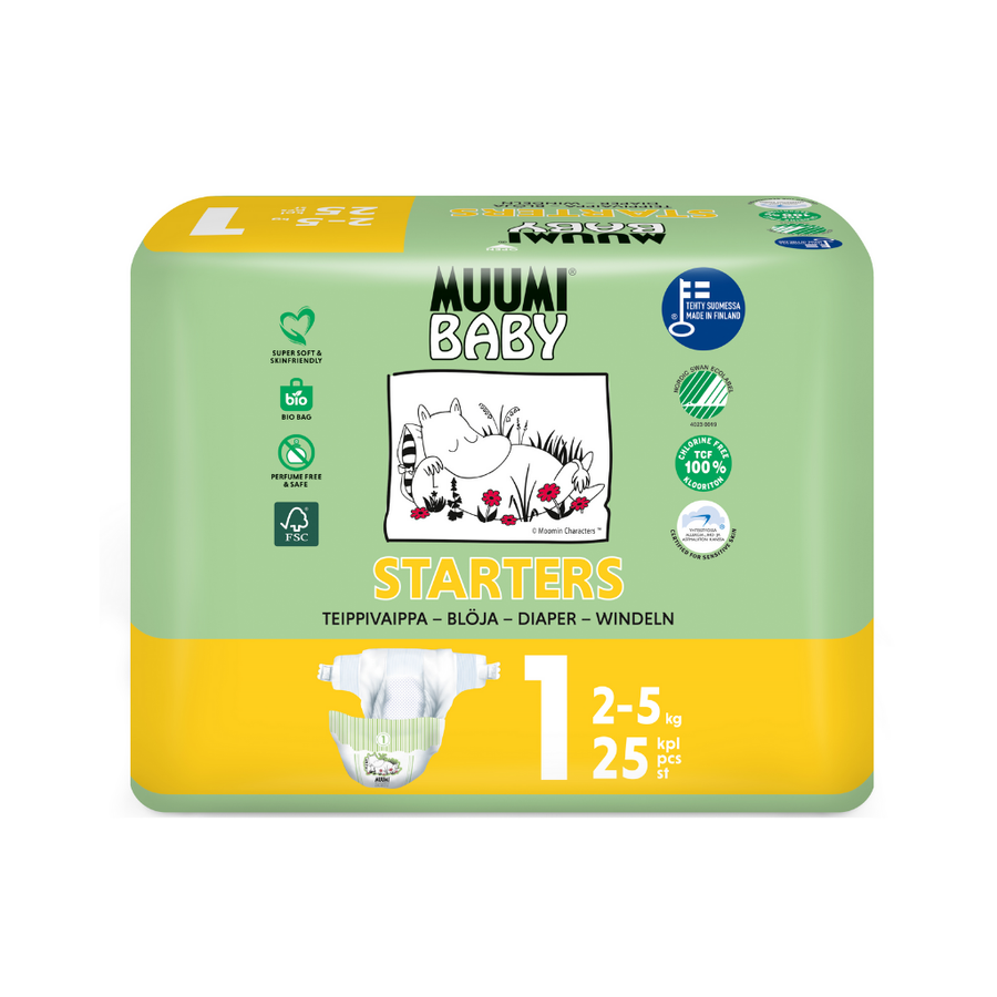 Muumi Eco Nappies Newborn Size 1 - 25 Pack