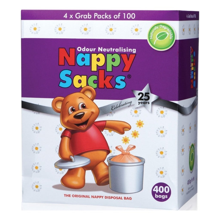 Nappy Sacks Degradable Nappy Bags - 400 Pack