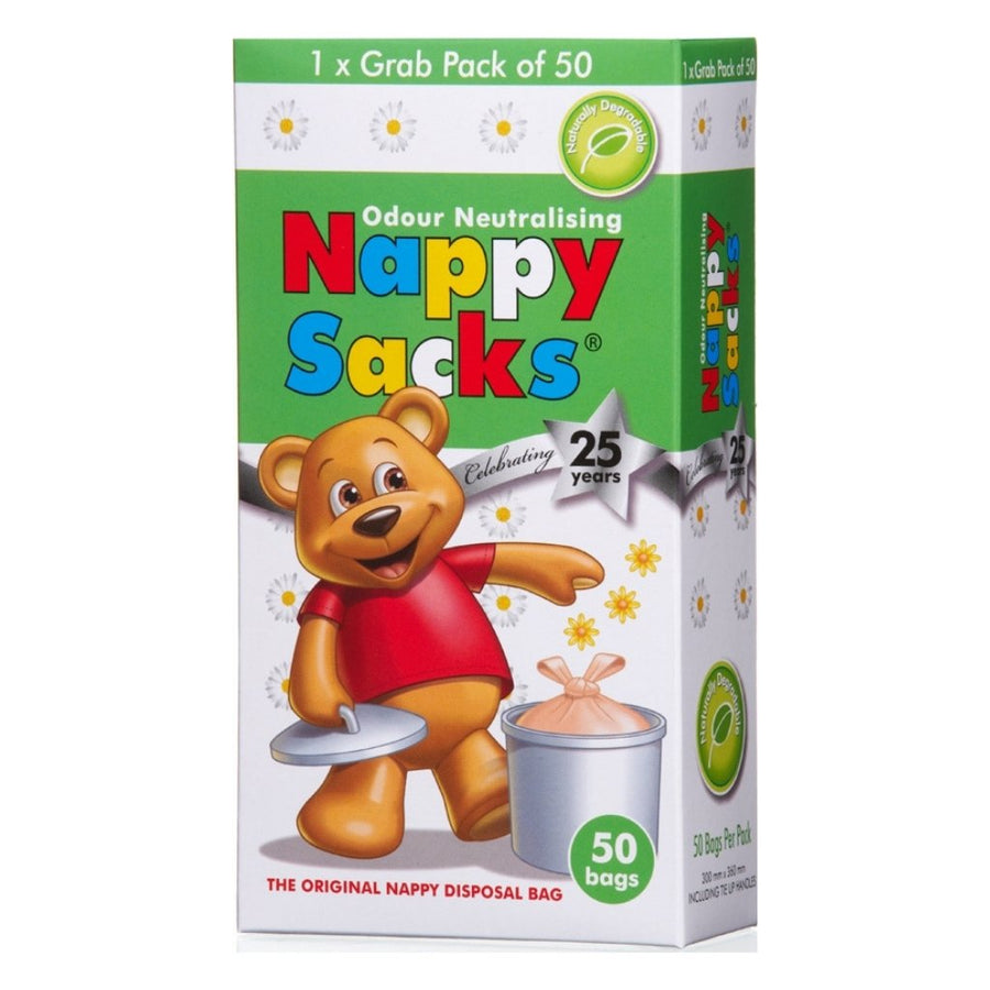 Nappy Sacks Degradable Nappy Bags - 50 Pack