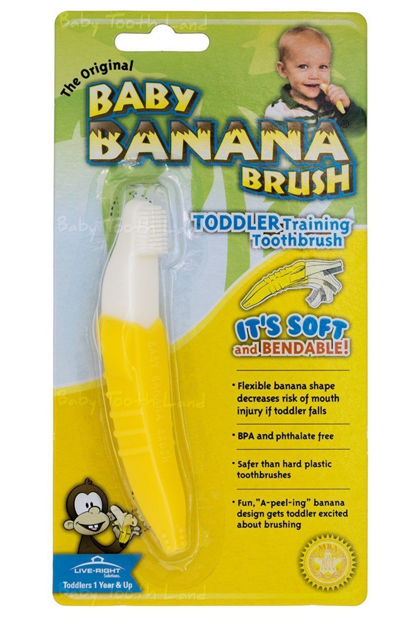 Original Baby Banana Toddler Toothbrush from 12 months