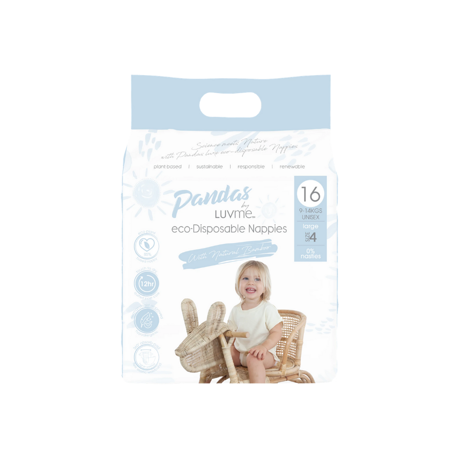 Panda by Luvme Eco Nappies Size 4 - 16 Pack