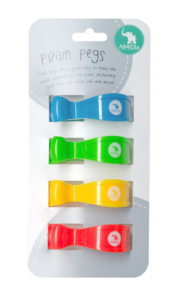 All4Ella Pram Pegs 4 Pack - Multi Train