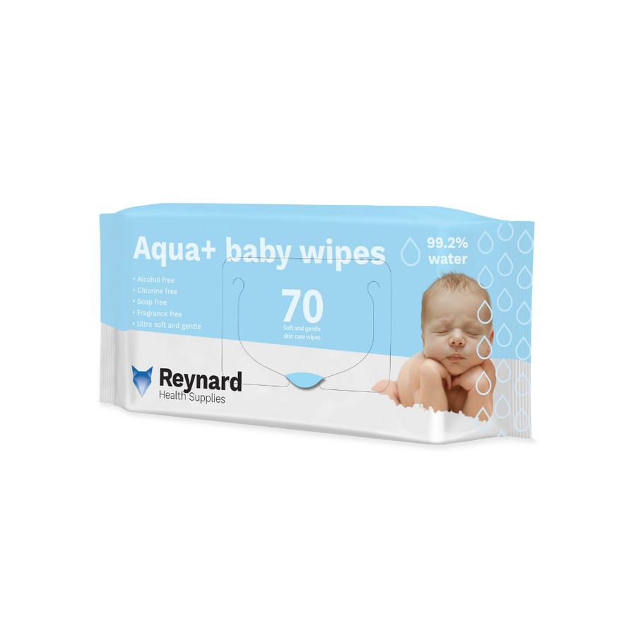 Reynard Aqua+ Baby Wipes - 70 Pack
