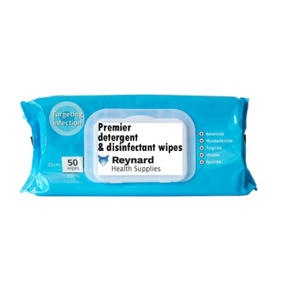 Reynard Surface Disinfectant Wipes - 50 Pack