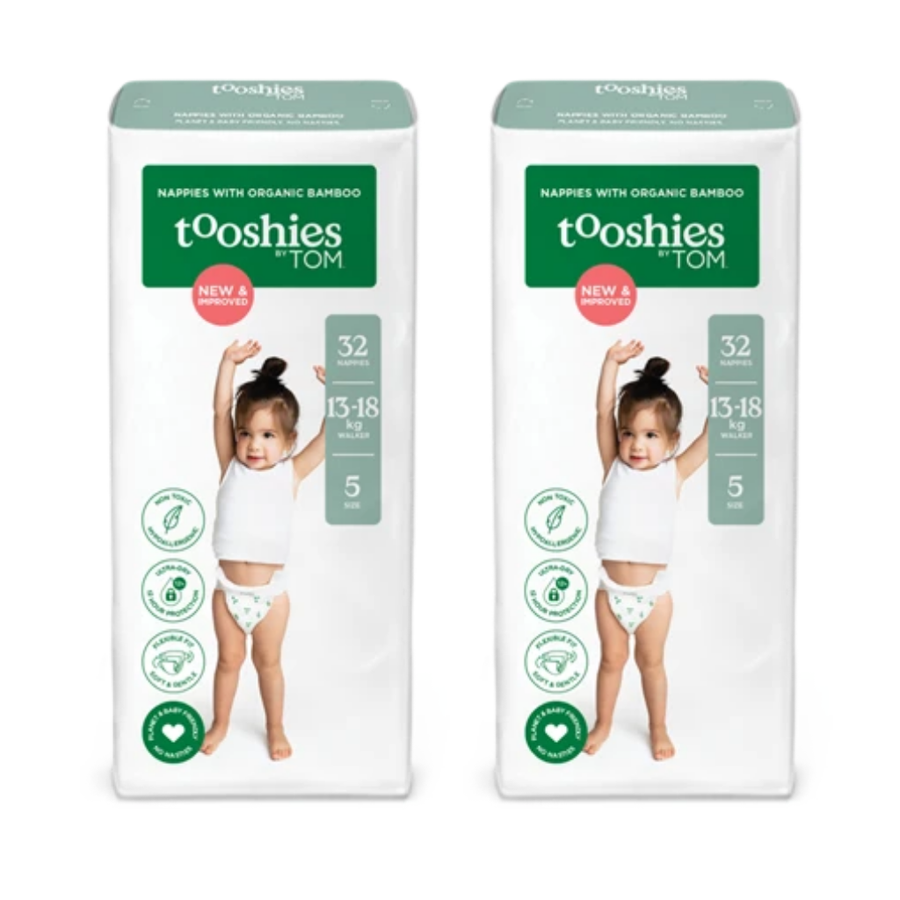 Tooshies by TOM Nappies Size 5 Walker - Bulk 2x32