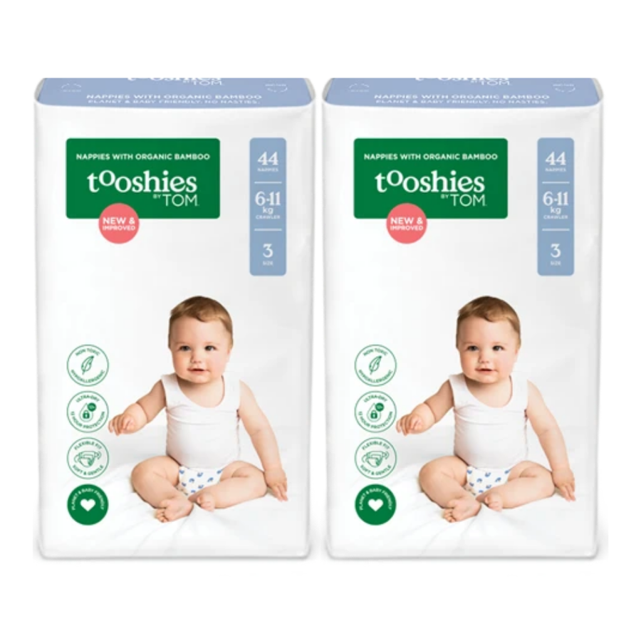Tooshies by TOM Nappies Size 3 Crawler - Bulk 2x44