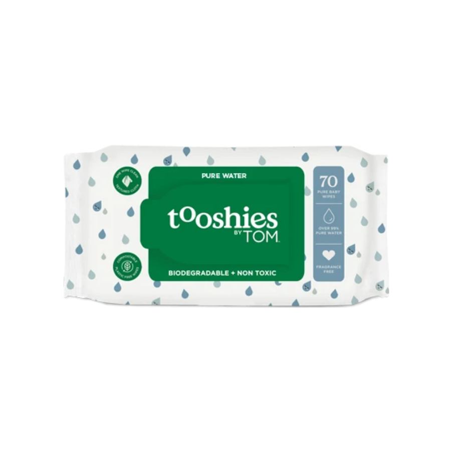 Tooshies by TOM Pure Water Baby Wipes - 70 Pack