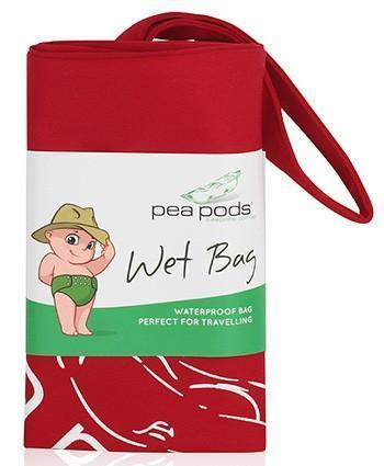 Pea Pods Travel Size Wet Bag Red