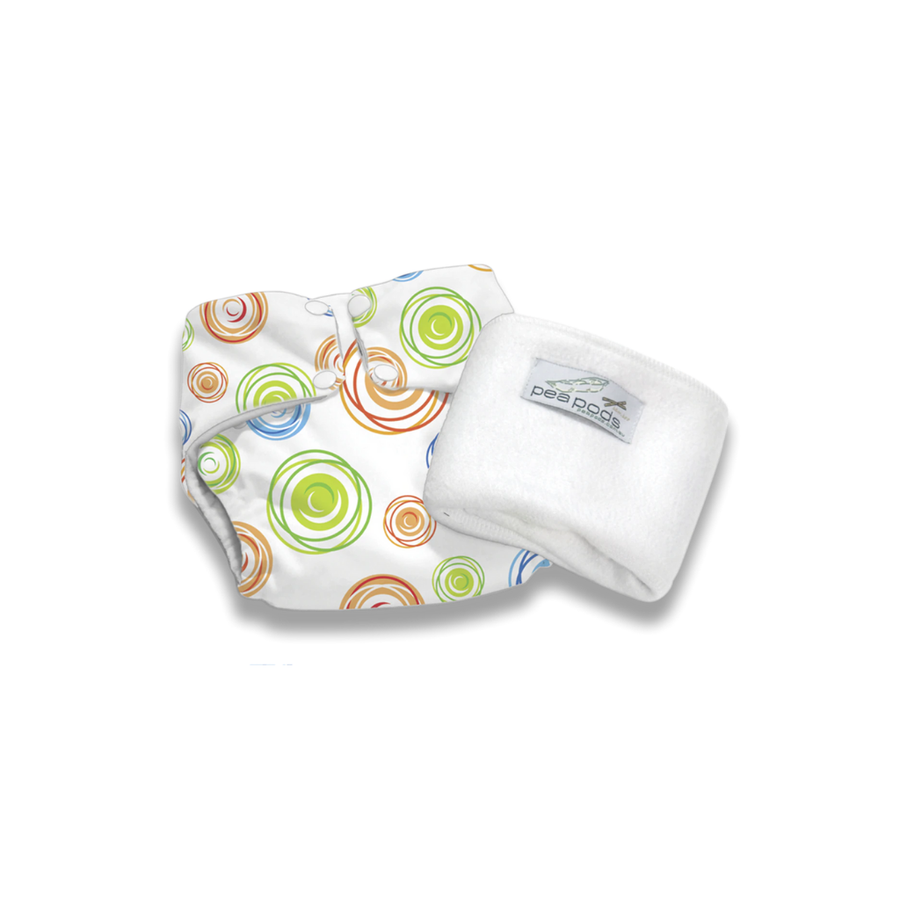 Pea Pods One Size Fits All Nappy - Swirl Print