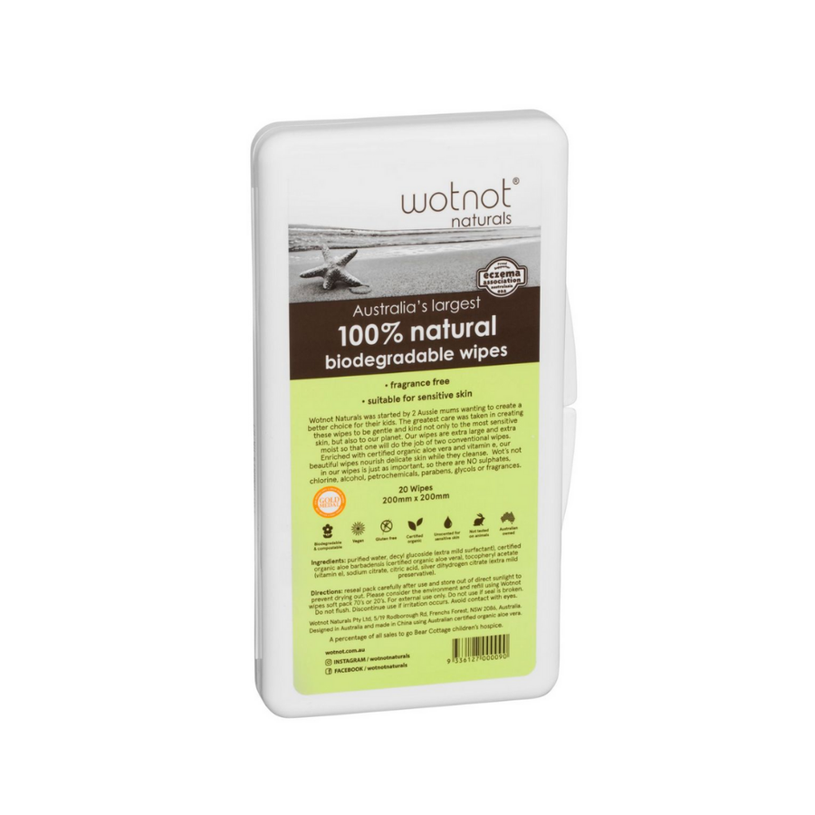 Wotnot Baby Wipes Travel CASE -  20 Pack