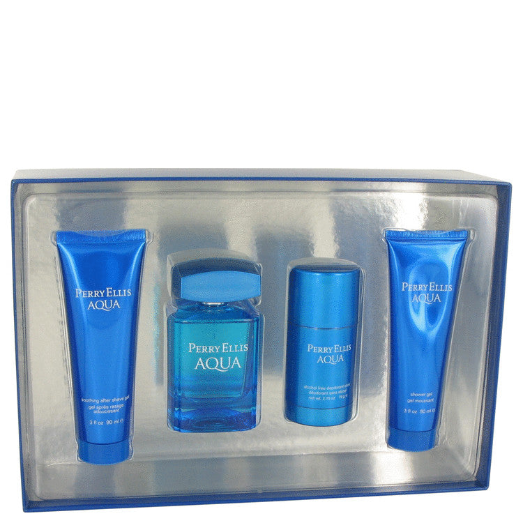 Perry Ellis Aqua Gift Set By Perry Ellis