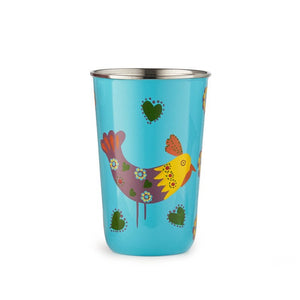 Hand-painted Enamelled Metal Drinking Tumbler / Cup, India