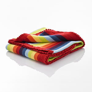 Pebble Knitted Blanket - Rainbow, Bangladesh