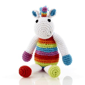 Pebble Knitted Rainbow Unicorn - Small, Bangladesh