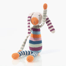 Pebble Knitted Cotton Striped Bunny Toy, Bangladesh