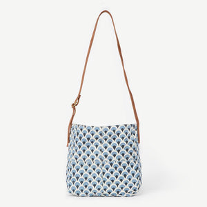 Joyn Printed Cotton Slouchy Bag W/ Vegan Leather Strap, India