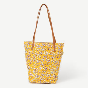 Joyn Block Printed Cotton Bucket Tote Bag, India