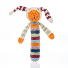 Pebble Knitted Cotton Bunny Stick Rattle, Bangladesh