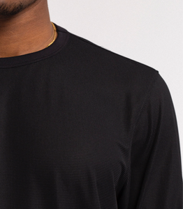 LS BASE LAYER GYM SHIRT - BLACK
