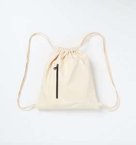 CANVAS GYM BAG - CREAM