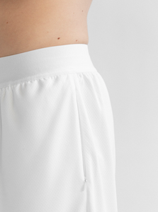 MESH HOOP SHORT - WHITE