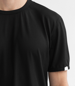 SS THERMAL GYM SHIRT - BLACK