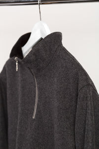 WOOL QUARTER ZIP - GREY