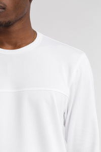 LS MESH SHIRT - WHITE