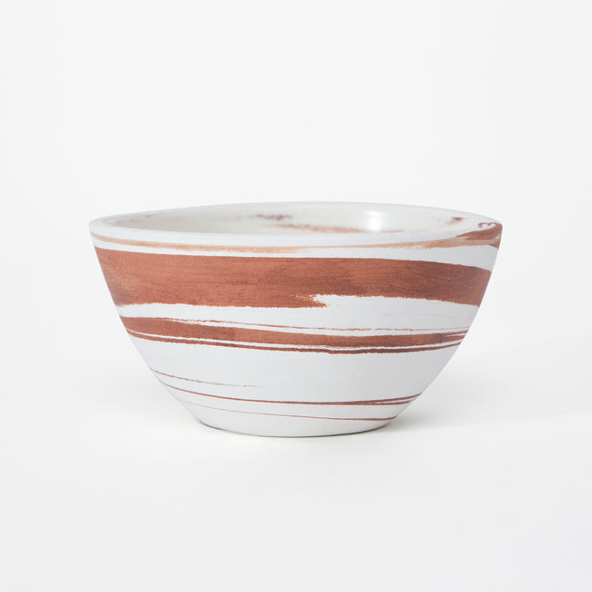 Bowl Marmolado Blanco Terracota